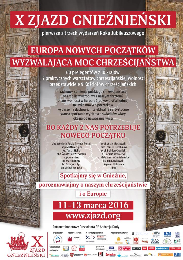 X Zjazd gnieźnieński - plakat
