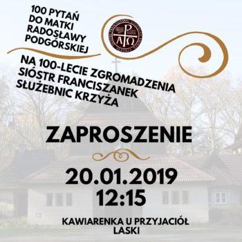 Msza klubowa w Laskach - Kolędowanie i 100 pytań do Matki Generalnej Sióstr Franciszkanek