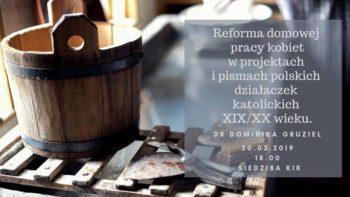 O reformie domowej pracy kobiet
